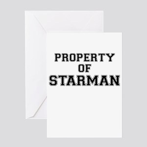 Property of STARMAN Greeting Cards
