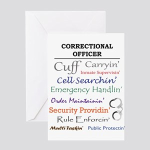 Correctional Officers Greeting Cards