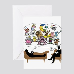Therapist Psychologist Greeting Cards