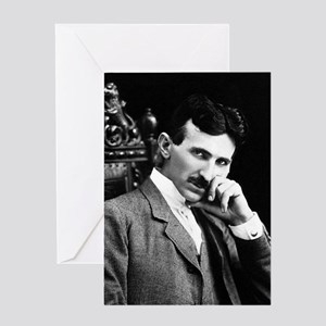 nicola tesla Greeting Cards