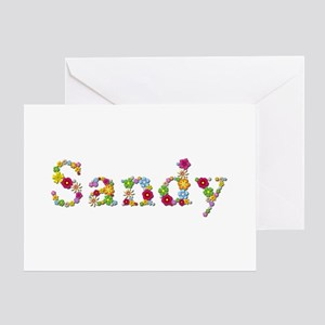 Sandy Bright Flowers Greeting Card