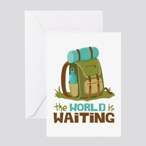 The World is Waiting Greeting Cards