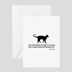 Ancient Cat Proverb Greeting Cards