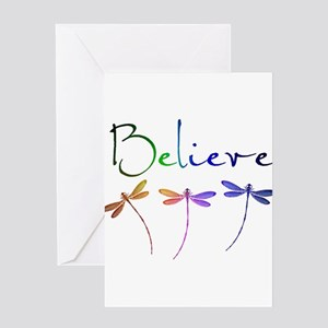 Believe...dragonflies Greeting Cards