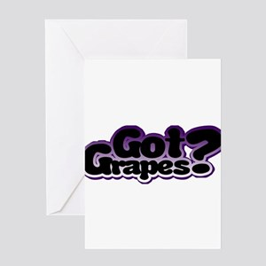 Got Grapes Greeting Card