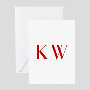 KW-bod red2 Greeting Cards