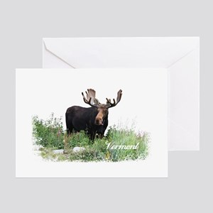 Vermont Moose Greeting Card