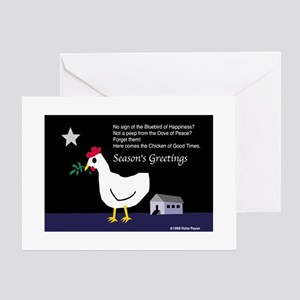 Chicken of Good Times Greeting Cards (Pack of 6) G