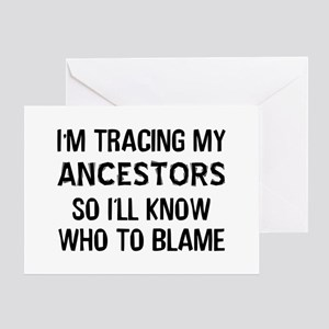 Funny Genealogy Greeting Card