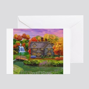England Countryside Autumn Greeting Cards