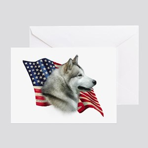 Malamute Flag Greeting Card