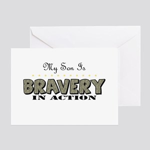 Bravery In Action (Son) Greeting Cards