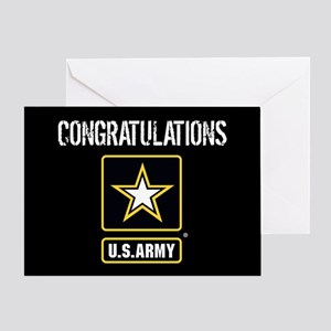 U.S. Army: Congratulations (Black) Greeting Cards