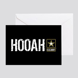 U.S. Army: Hooah (Black) Greeting Card