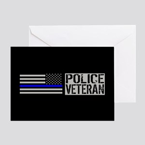 Police: Police Veteran (Black Flag B Greeting Card