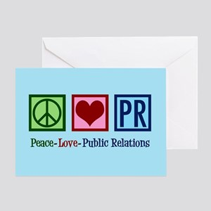 Peace Love PR Public Relations Greeting Card