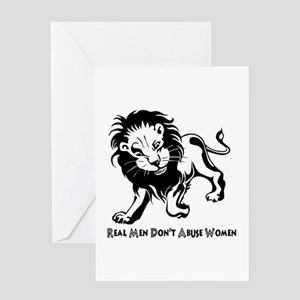 Domestic Violence Statement Greeting Cards
