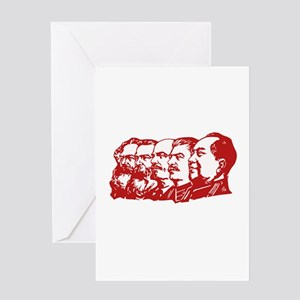 Communist Leaders Greeting Cards
