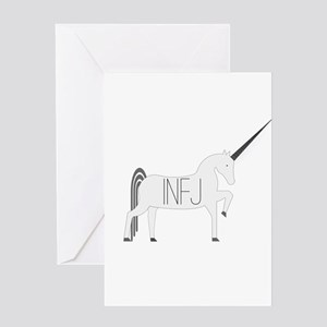 INFJ Unicorn Greeting Cards