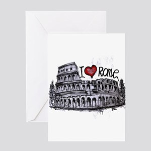 I love Rome Greeting Cards