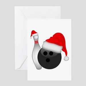 Christmas Bowling Greeting Cards