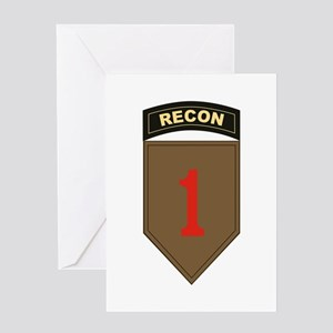 1st ID Recon Greeting Cards