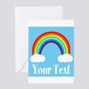 Personalizable Rainbow Greeting Cards