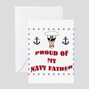 Proud Of My Navy Father Greeting Card