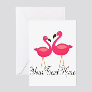 Pink Flamingos Greeting Cards