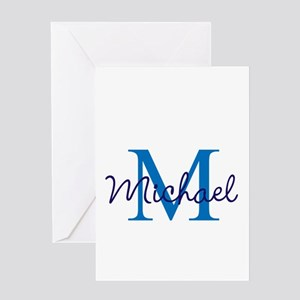 Personalize Initials and Name Greeting Card