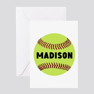 Softball Personalized Greeting Card