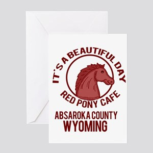 Red Pony Cafe Greeting Cards