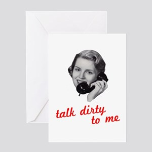 talkdirty2 Greeting Card