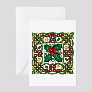 Celtic Garland Holly Greeting Card