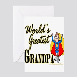 Superdadworldsgreatgrandpa copy Greeting Card