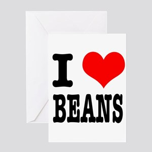 I Heart (Love) Beans Greeting Card