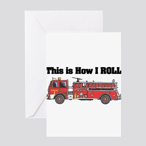 How I Roll (Fire Engine/Truck Greeting Card