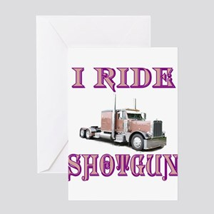 I Ride Shotgun Greeting Card