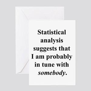 Statistically in Tune . . . Greeting Card