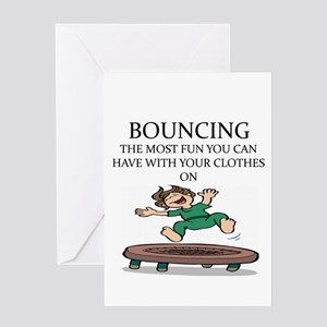 i love trampolines Greeting Card