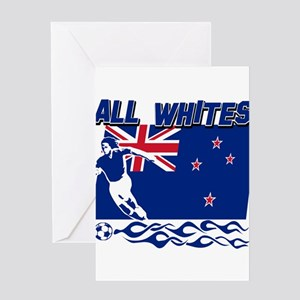 All Whites New Zealand soccer Greeting Card