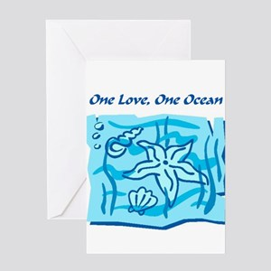 One Love, One Ocean Greeting Card
