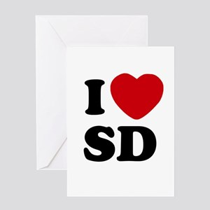 I Heart SD San Diego Greeting Gift Card