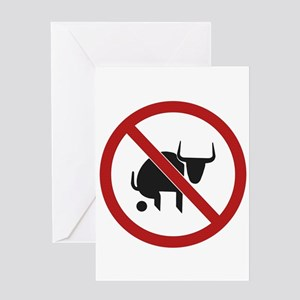 No Bull Greeting Card