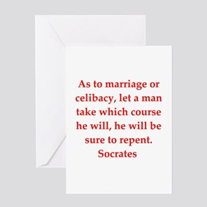 Wisdom of Socrates Greeting Card