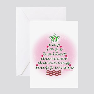 Dancers' Christmas Tree Greeting Card