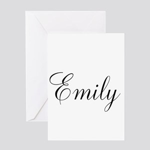 Personalized Black Script Greeting Card