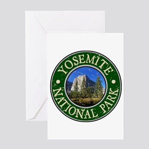 Yosemite Nat Park Design 1 Greeting Card