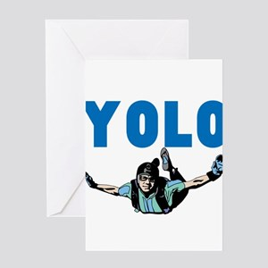 Yolo Sky Diving Greeting Card