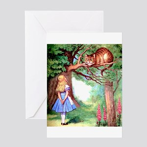 Alice and the Cheshire Cat Greeting Card